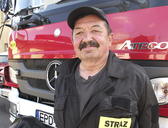Najstarszy strażak w Uniejowie0