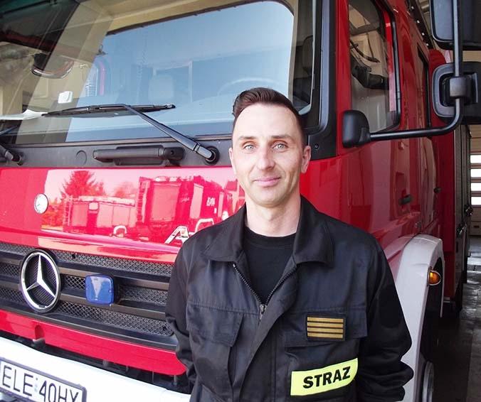 Strażak z Łęczycy uratował życie 18-latkowi