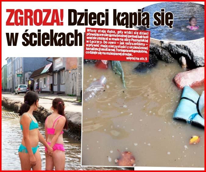 ZGROZA! Dzieci kąpią się w ściekach