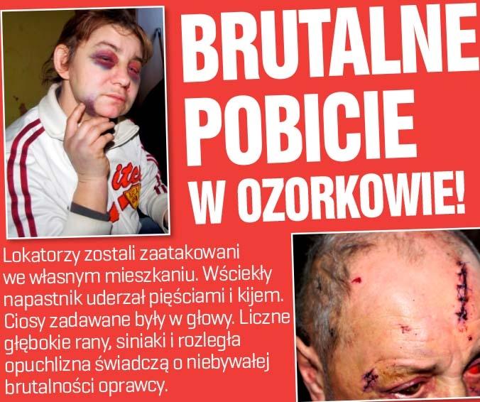 Brutalne pobicie w Ozorkowie