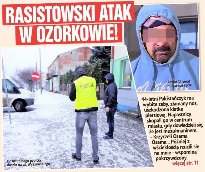 Rasistowski atak w Ozorkowie!