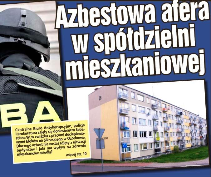 Azbestowa afera w spółdzielni mieszkaniowej
