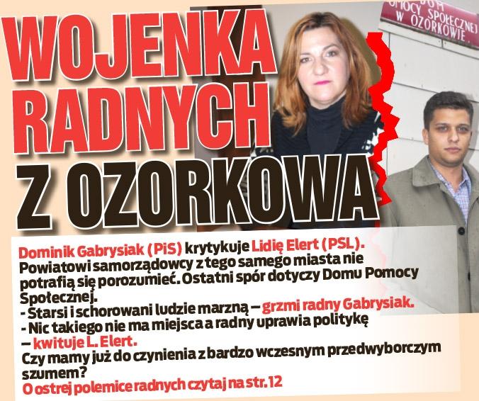 Wojenka radnych z Ozorkowa