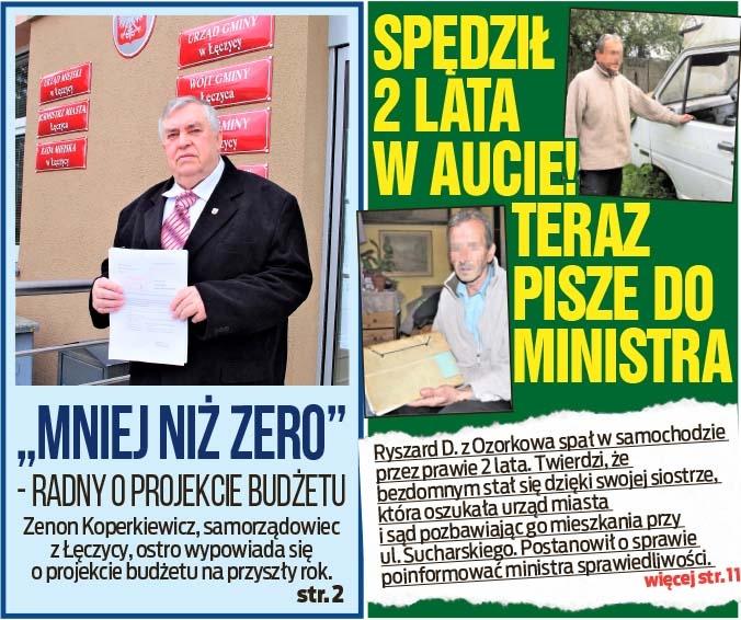 """""""Mniej niż zero"""" - radny o projekcie budżetu oraz Spędził 2 lata w aucie! Teraz pisze do ministra"""