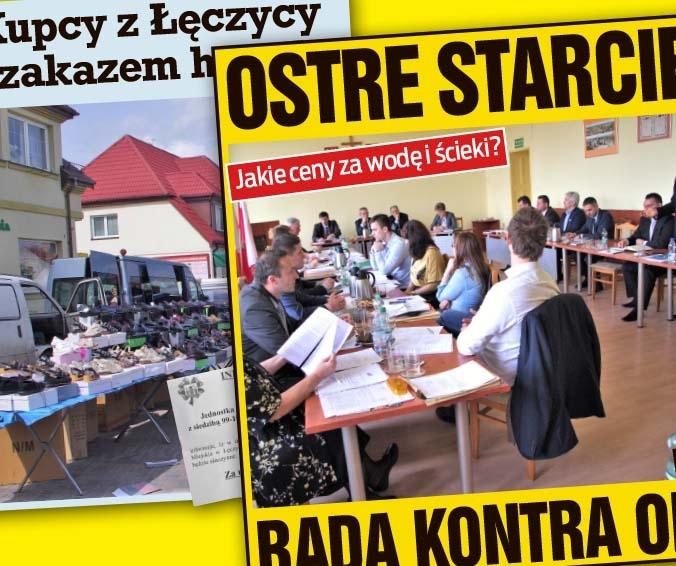 OSTRE STARCIE! RADA KONTRA OPK oraz KUPCY Z ŁĘCZYCY Z ZAKAZEM HANDLU