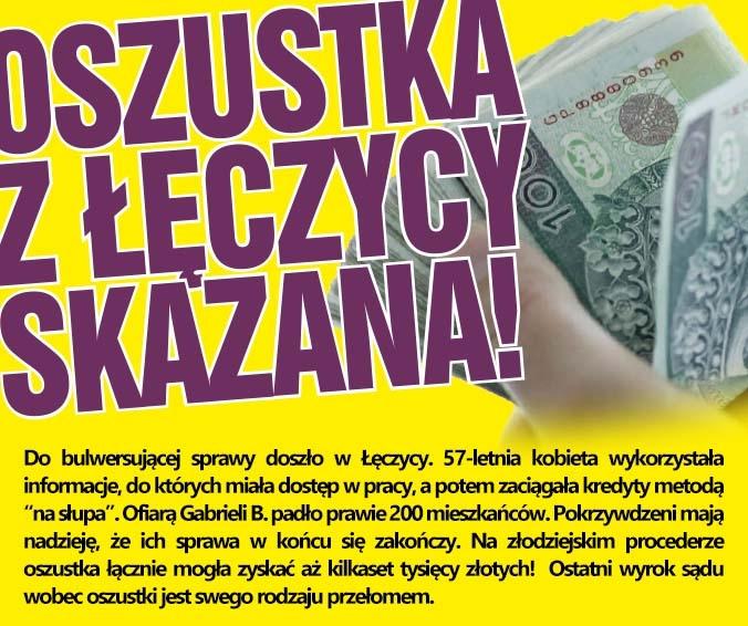Oszustka z Łęczycy skazana!