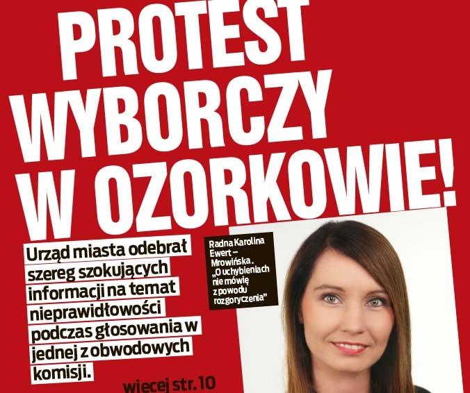PROTEST WYBORCZY W OZORKOWIE!