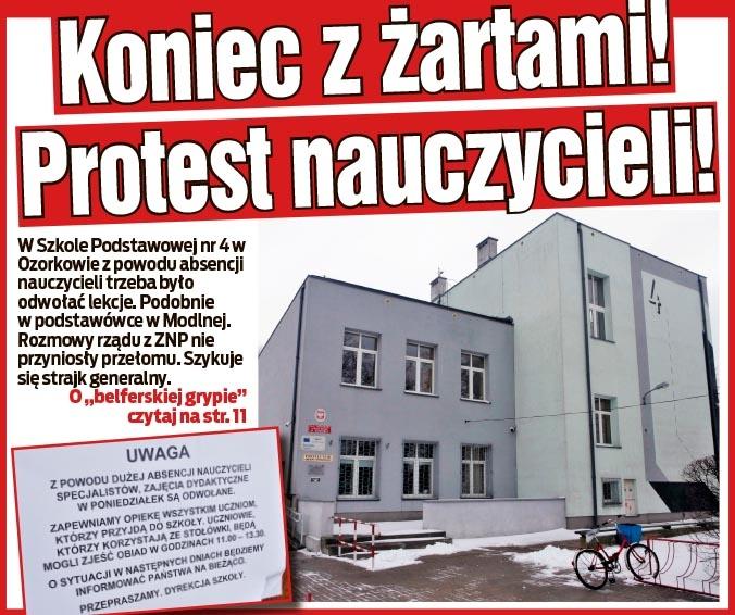 Koniec z żartami! Protest nauczycieli!