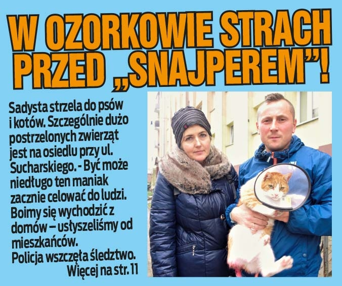 """W Ozorkowie strach przed """"snajperem""""!"""