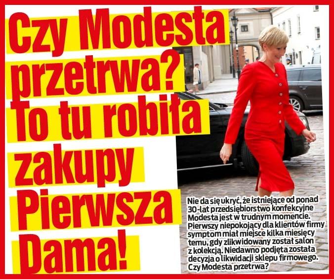 Czy Modesta przetrwa? To tu robiła zakupy Pierwsza Dama!