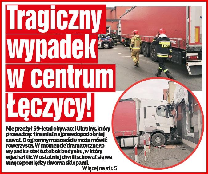 Tragiczny wypadek w centrum Łęczycy!