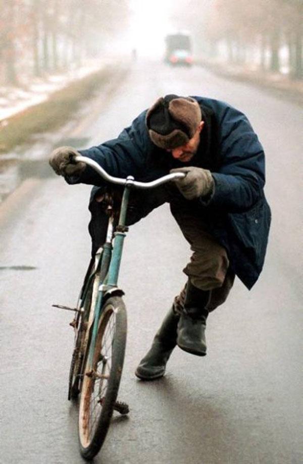 rowerzysta na rauszu