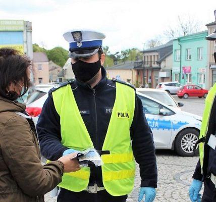 maseczki policja