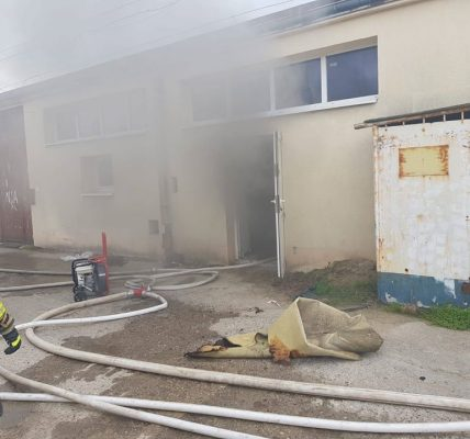 pożar szpital zgierz