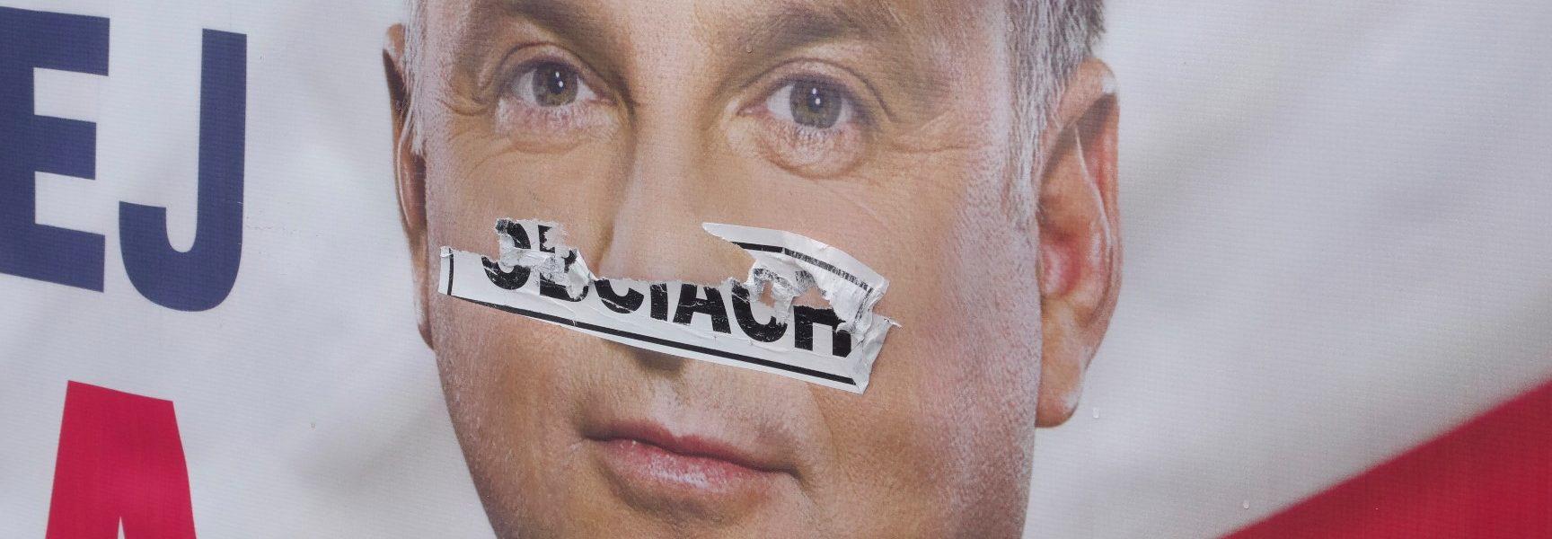 obciach na twarzy prezydenta