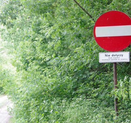 zakaz wjazdu do lasku miejskiego
