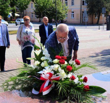 kwiaty składa burmistrz