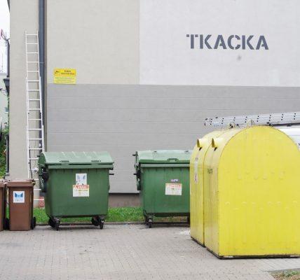 kamery przy śmieciach