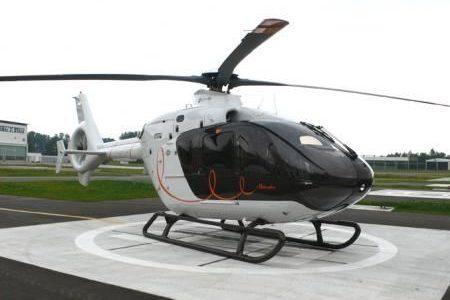 helikopter na posesji