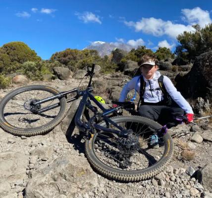 rowerem z kilimandżaro