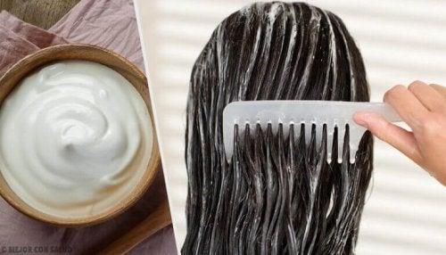 jogurt na włosy