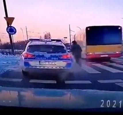policja potrąciła pieszego