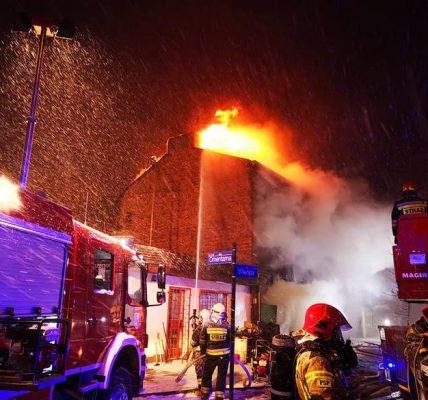 pożar w pabianicach