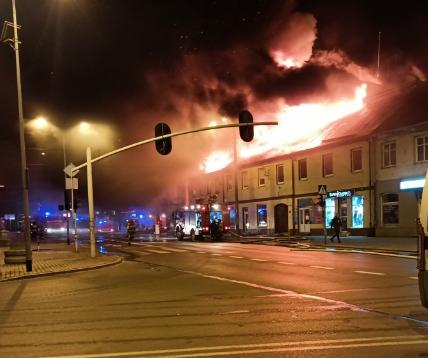 pożar ozorków