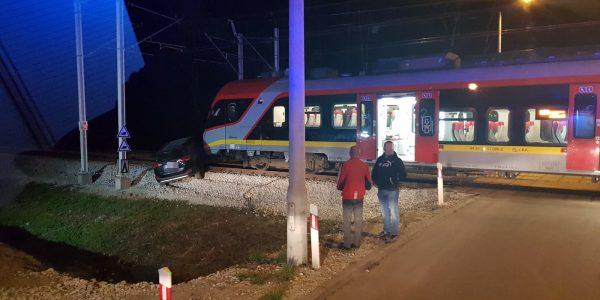 pociąg zmiażdżył