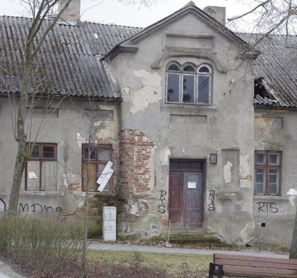 ruiny przy parku