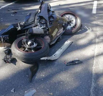 motor wypadek