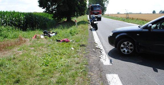 ranny motocyklista