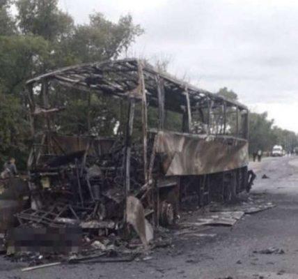 spłonął autobus