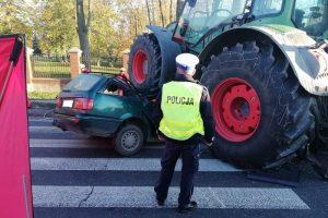 wypadek traktor